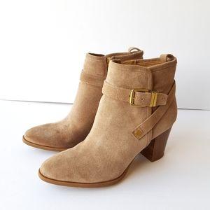 Franco Sarto L-Delancy suede ankle boots size 8.5